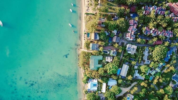 foto drone praia